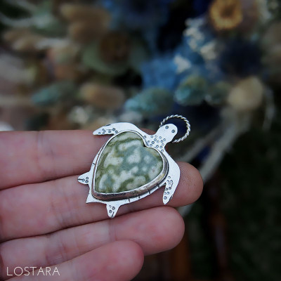 "Collier ""Famille Tortue : Le Papa"""